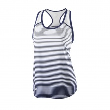 Wilson Tank Team Striped 2018 dunkelblau/weiss Damen