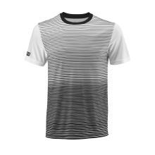 Wilson Tshirt Team Striped 2018 schwarz/weiss Boys