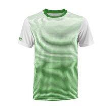 Wilson Tshirt Team Striped 2018 grün/weiss Herren