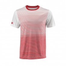 Wilson Tshirt Team Striped 2018 rot/weiss Boys