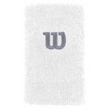 Wilson Schweissband Jumbo (Extra Weit) Handgelenk weiss - 2 Stück