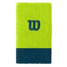 Wilson Schweissband Jumbo (Extra Weit) Handgelenk lime/dunkelblau - 2 Stück