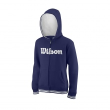 Wilson Hoodie Team Full Zip 2018 dunkelblau Boys/Girls