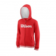 Wilson Hoodie Team Full Zip 2018 rot Boys/Girls