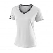 Wilson Shirt Team V-Neck 2018 weiss Damen