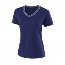 Wilson Shirt Team V-Neck 2018 dunkelblau Damen