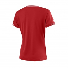 Wilson Shirt Team V-Neck 2018 rot Damen