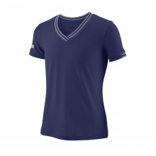 Wilson Shirt Team V-Neck 2018 dunkelblau Girls
