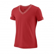Wilson Shirt Team V-Neck 2018 rot Girls