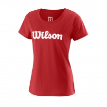 Wilson Shirt Team Logo 2018 rot Damen