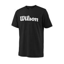 Wilson Tshirt Team Logo 2018 schwarz Boys