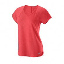 Wilson Shirt Training V-Neck 2020 rot Damen