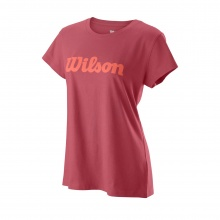 Wilson Shirt Script Cotton II 2019 beere Damen