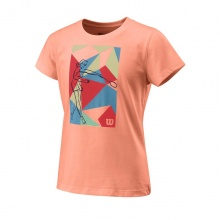 Wilson Shirt Prism Play Tech 2020 papaya Girls