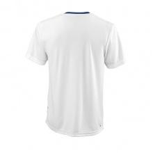 Wilson Tennis Tshirt Team II Crew 2021 royalblau/weiss Herren