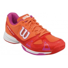 Wilson Rush EVO 2017 orange/rose Tennisschuhe Damen