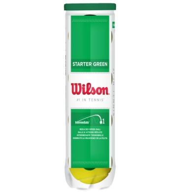 Wilson Stage 1 Starter Play Green Methodikbälle 4er