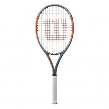 Wilson Burn Team 100 2018 grau/orange Tennisschläger - besaitet -