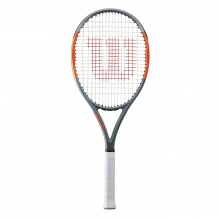 Wilson Burn Team 100 Lite 2018 grau/orange Tennisschläger - besaitet -