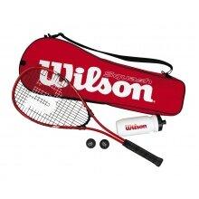 Wilson Squash Starter Kit (1x Schläger, 1x Trinkflasche, 2x Bälle, 1x Tasche)