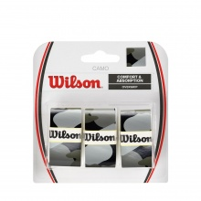 Wilson Camo 0.6mm Overgrip 3er anthrazit