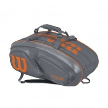 Wilson Racketbag Tour V 2017 grau/orange 15er
