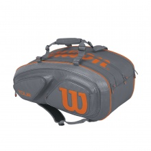 Wilson Racketbag Tour V #17 grau/orange 15er