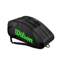 Wilson Racketbag Tour Team II 2015 grau/lime 12er