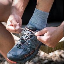 Wundersocks Alltags-/Sportsocke Ankle GO Merinowolle schwarz - 1 Paar