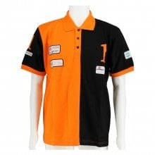 X-Bionic Polo Piquet Kurzarm Bicolour schwarz/orange Herren