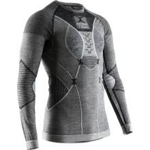 X-Bionic Langarmshirt Apani 4.0 Merino Unterwäsche schwarz/grau Herren