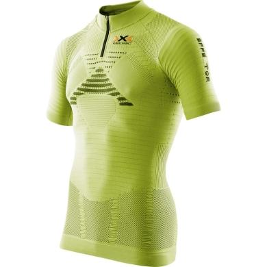 X-Bionic Trail Running Effektor Shirt Short Sleeve 1/2 Zip 2016 lime Herren