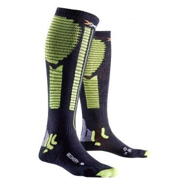 X-Socks Laufsocke Effektor XBS Precuperation (Weite M) schwarz/lime
