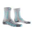 X-Socks Trekkingsocke Light Comfort hellgrau/azurblau Damen