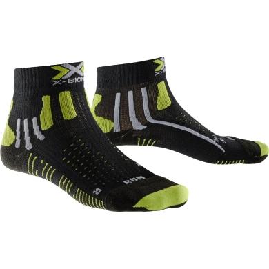 X-Socks Laufsocke Effektor XBS Short schwarz/lime Herren
