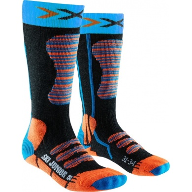 X-Socks Skisocke schwarz/türkis/orange Kinder
