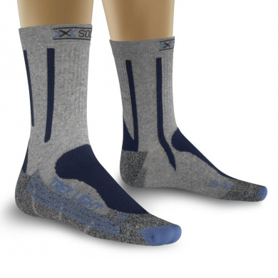 X-Socks Trekkingsocke Light grau/blau Damen