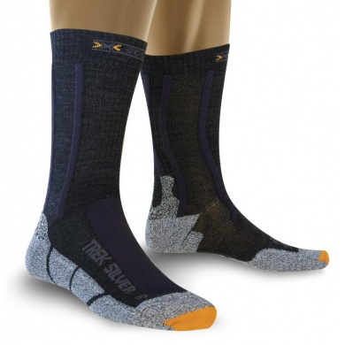 X-Socks Trekkingsocke Silver schwarz Herren