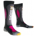 X-Socks Skisocke Carving Silver schwarz/violett Damen