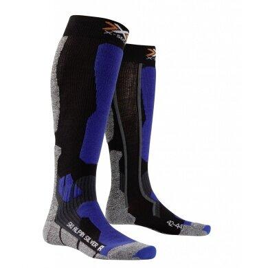 X-Socks Skisocke Alpin Silver schwarz/blau Herren