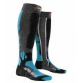 X-Socks Skisocke Pro Soft grau/blau Herren