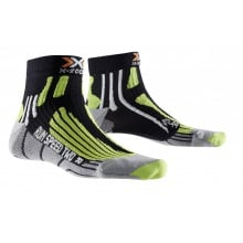 X-Socks Laufsocke Speed Two schwarz/lime Herren