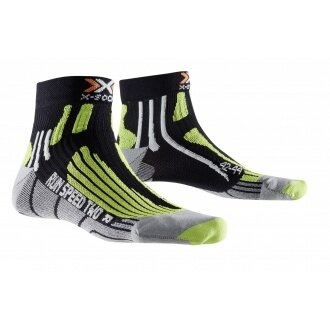X-Socks Laufsocke Speed Two schwarz/lime Herren
