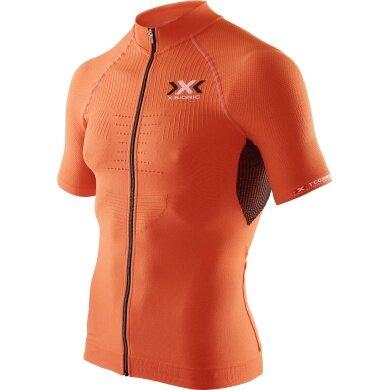 X-Bionic Bike The Trick Short Sleeve Full Zip orange Herren