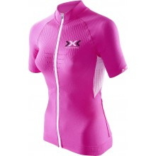 X-Bionic Bike The Trick Short Sleeve Full Zip pink Damen