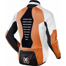 X-Bionic Bike Jacke Spherewind orange/weiss Herren