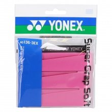 Yonex Super Grap Soft 0.8mm Overgrip 3er pink