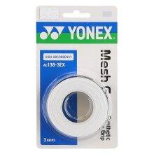 Yonex Mesh Grap 0.65mm Overgrip 3er weiss