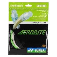 Yonex Aerobite Hybrid 0.61/0.67 weiss/grün Badmintonsaite