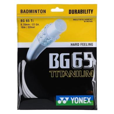 Yonex BG 65 Ti 0.70 weiss Badmintonsaite